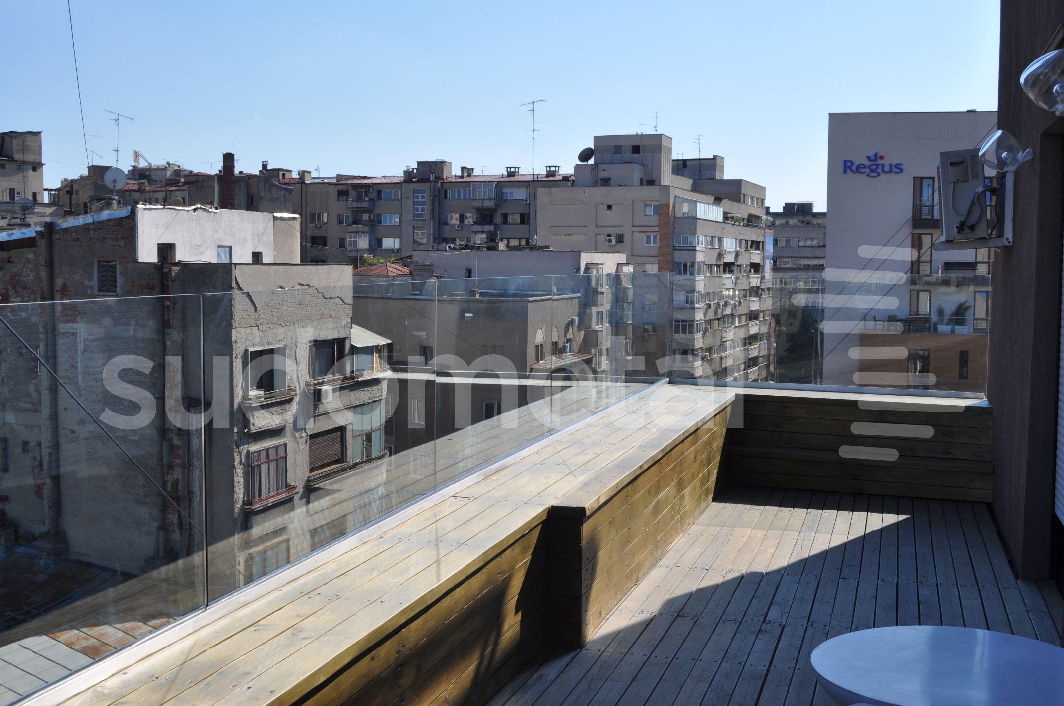 Balustrade exterioare - Balustrade sticla apartament particular Bucuresti SUDOMETAL - Poza 1