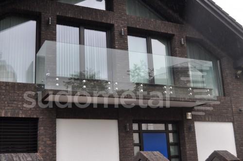 Balustrade exterioare - Balustrade din sticla casa particulara Suceava SUDOMETAL - Poza 4