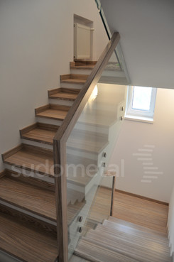 Balustrade, maini curente placate cu lemn SUDOMETAL - Poza 3