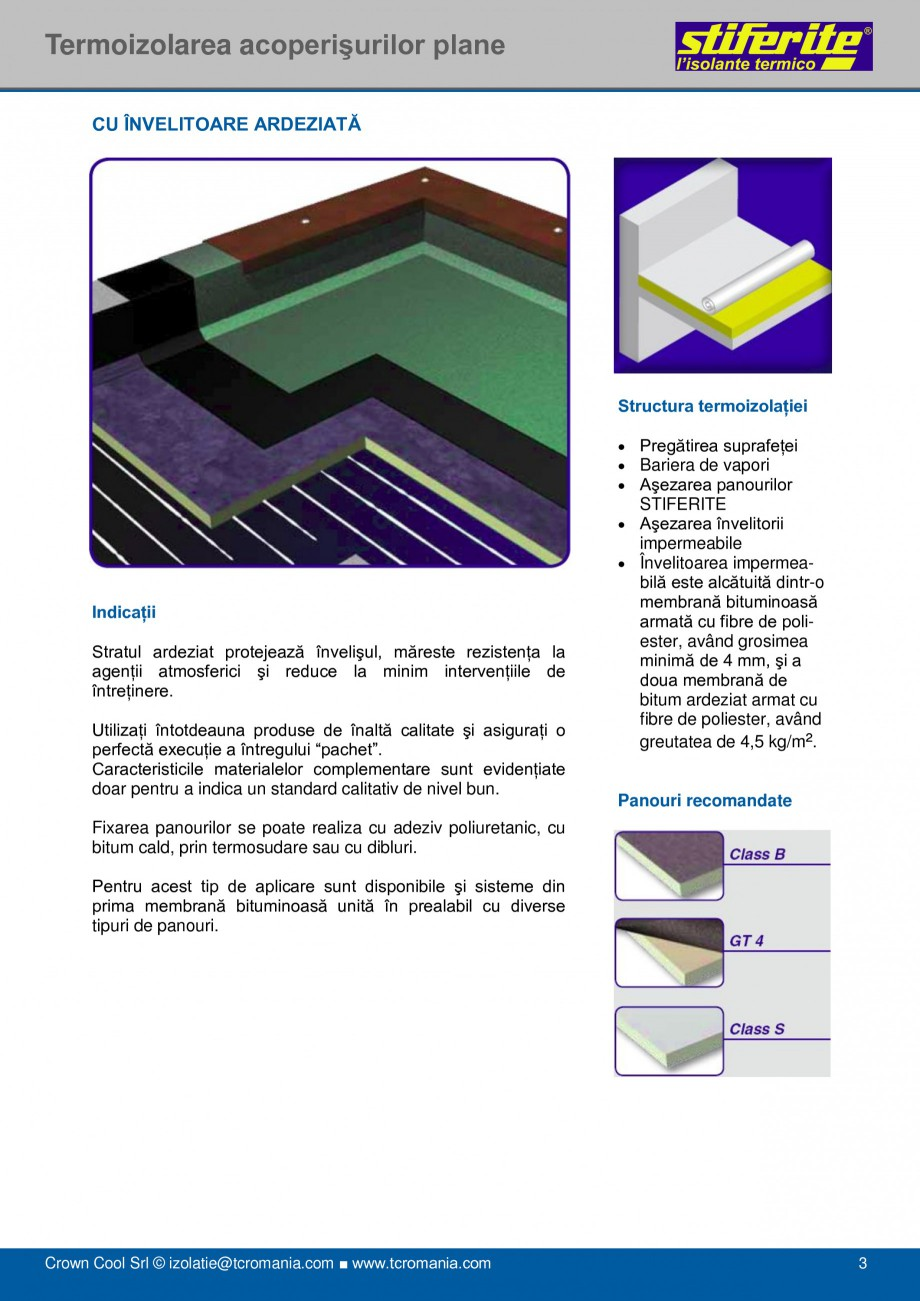 Pagina 3 - Aplicatii principale pentru panouri termoizolante din spuma rigida (PIR) Stiferite Class ...