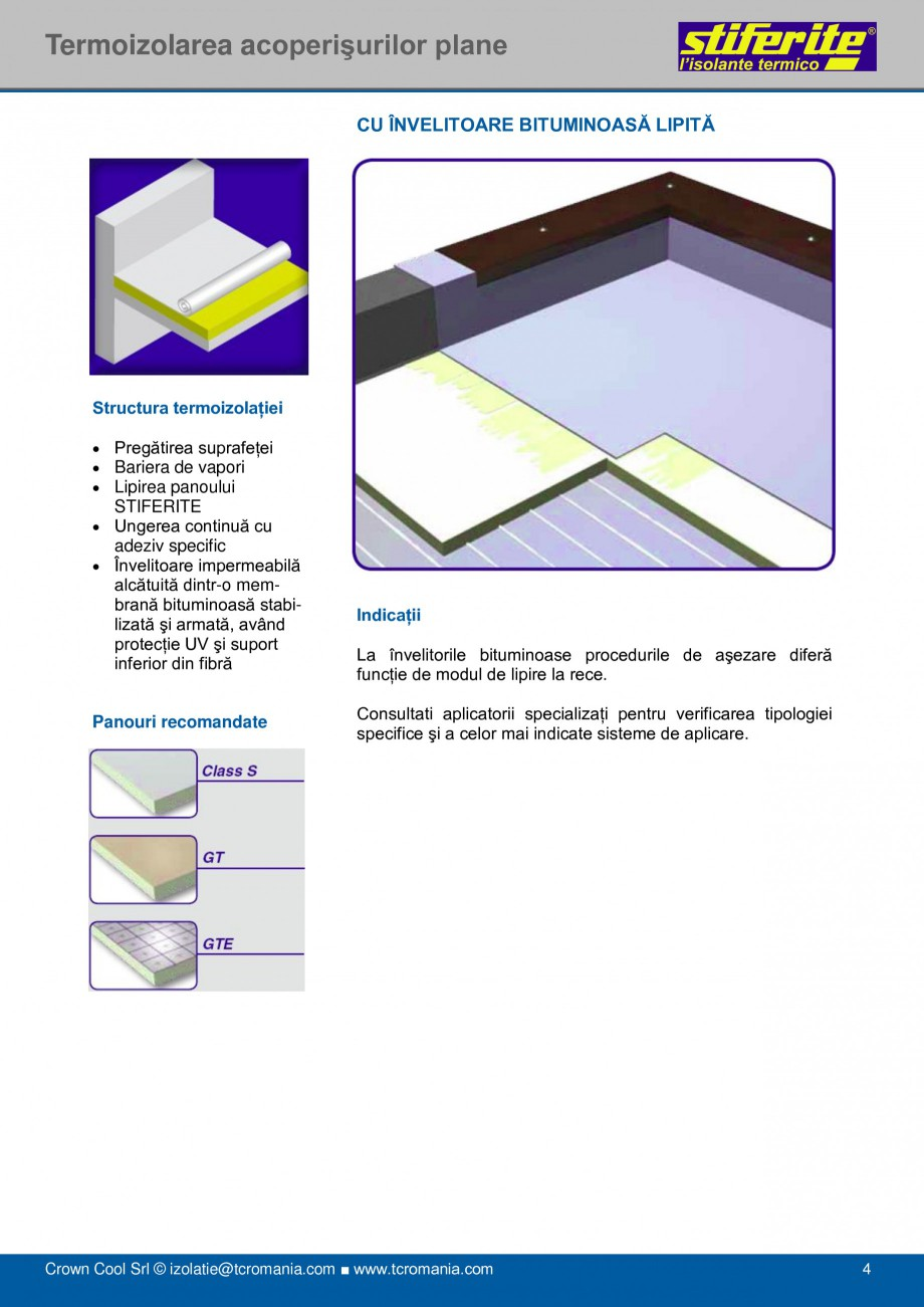 Pagina 4 - Aplicatii principale pentru panouri termoizolante din spuma rigida (PIR) Stiferite Class ...