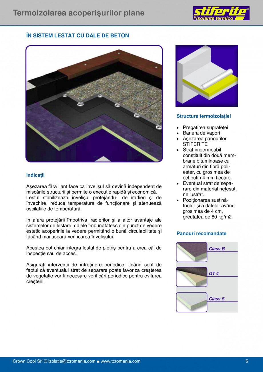 Pagina 5 - Aplicatii principale pentru panouri termoizolante din spuma rigida (PIR) Stiferite Class ...