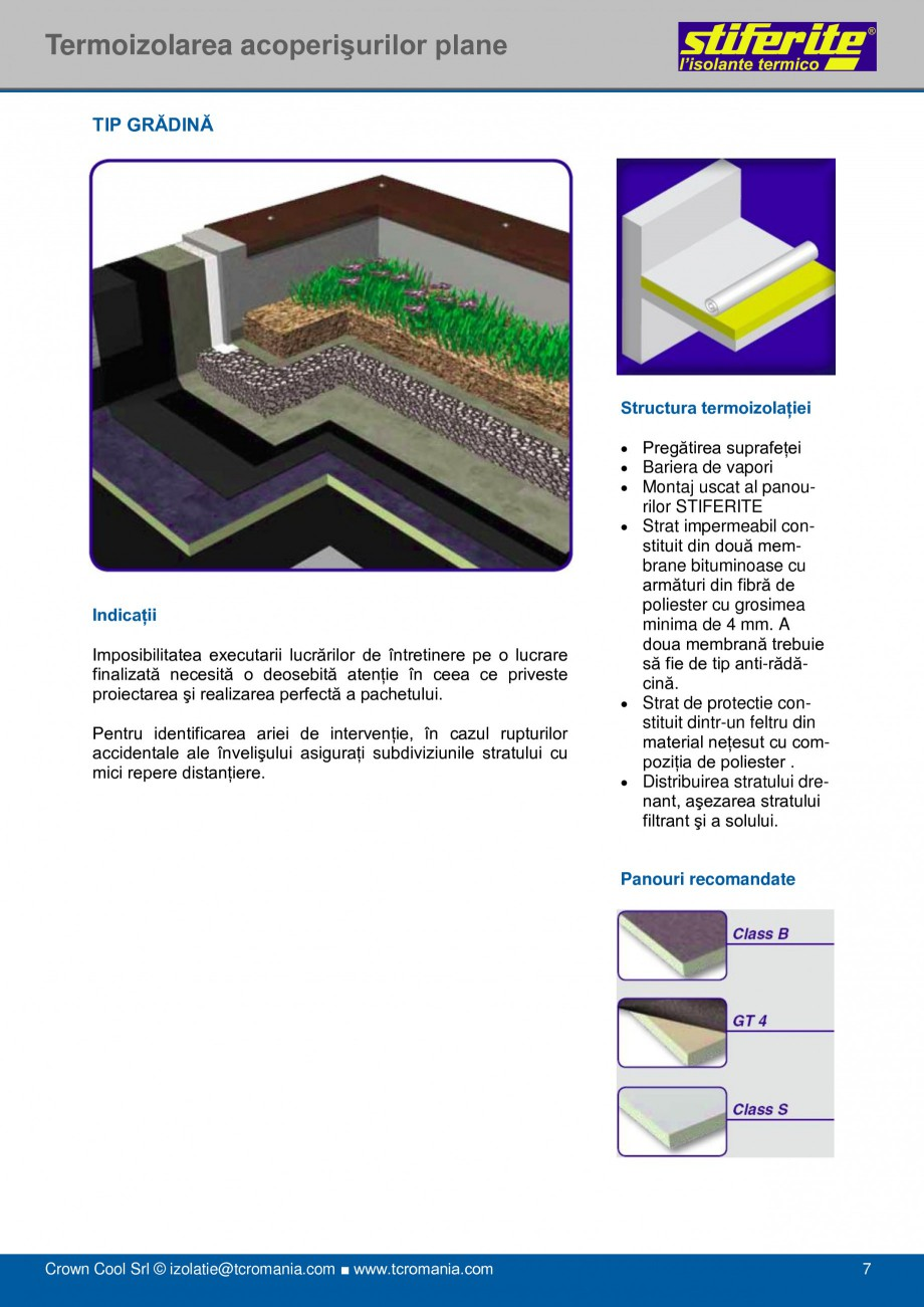 Pagina 7 - Aplicatii principale pentru panouri termoizolante din spuma rigida (PIR) Stiferite Class ...