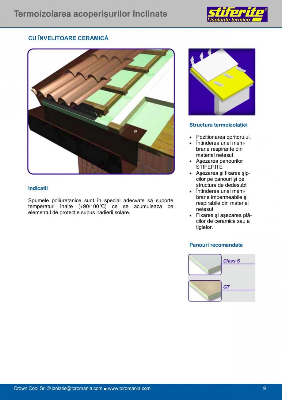 Pagina 9 - Aplicatii principale pentru panouri termoizolante din spuma rigida (PIR) Stiferite Class ...