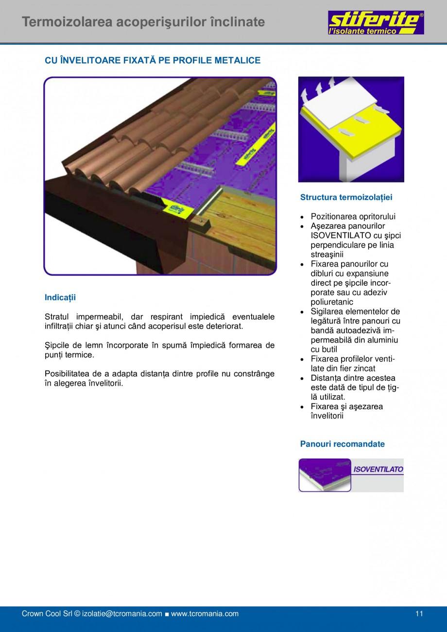 Pagina 11 - Aplicatii principale pentru panouri termoizolante din spuma rigida (PIR) Stiferite Class...