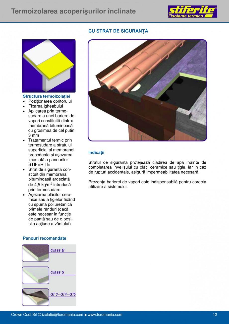 Pagina 12 - Aplicatii principale pentru panouri termoizolante din spuma rigida (PIR) Stiferite Class...