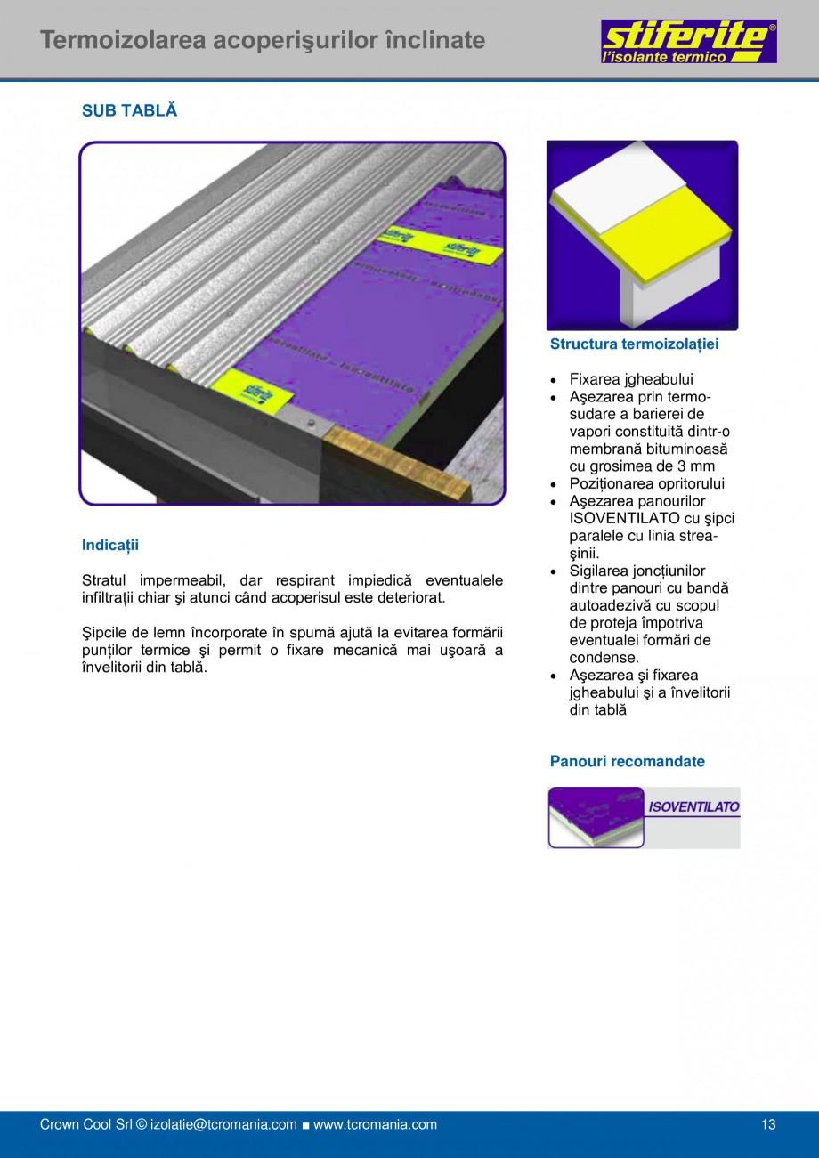 Pagina 13 - Aplicatii principale pentru panouri termoizolante din spuma rigida (PIR) Stiferite Class...