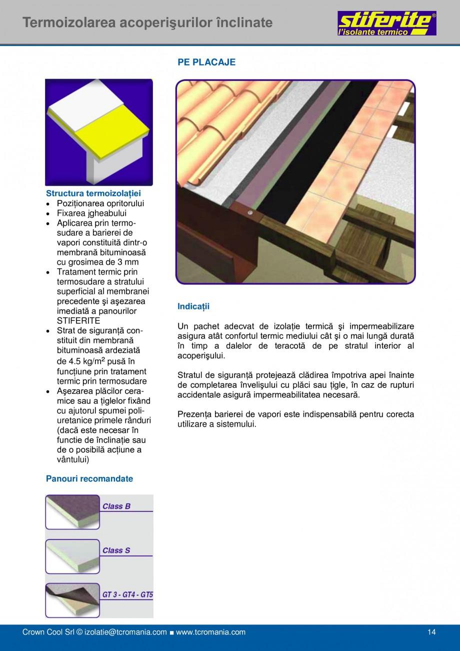 Pagina 14 - Aplicatii principale pentru panouri termoizolante din spuma rigida (PIR) Stiferite Class...