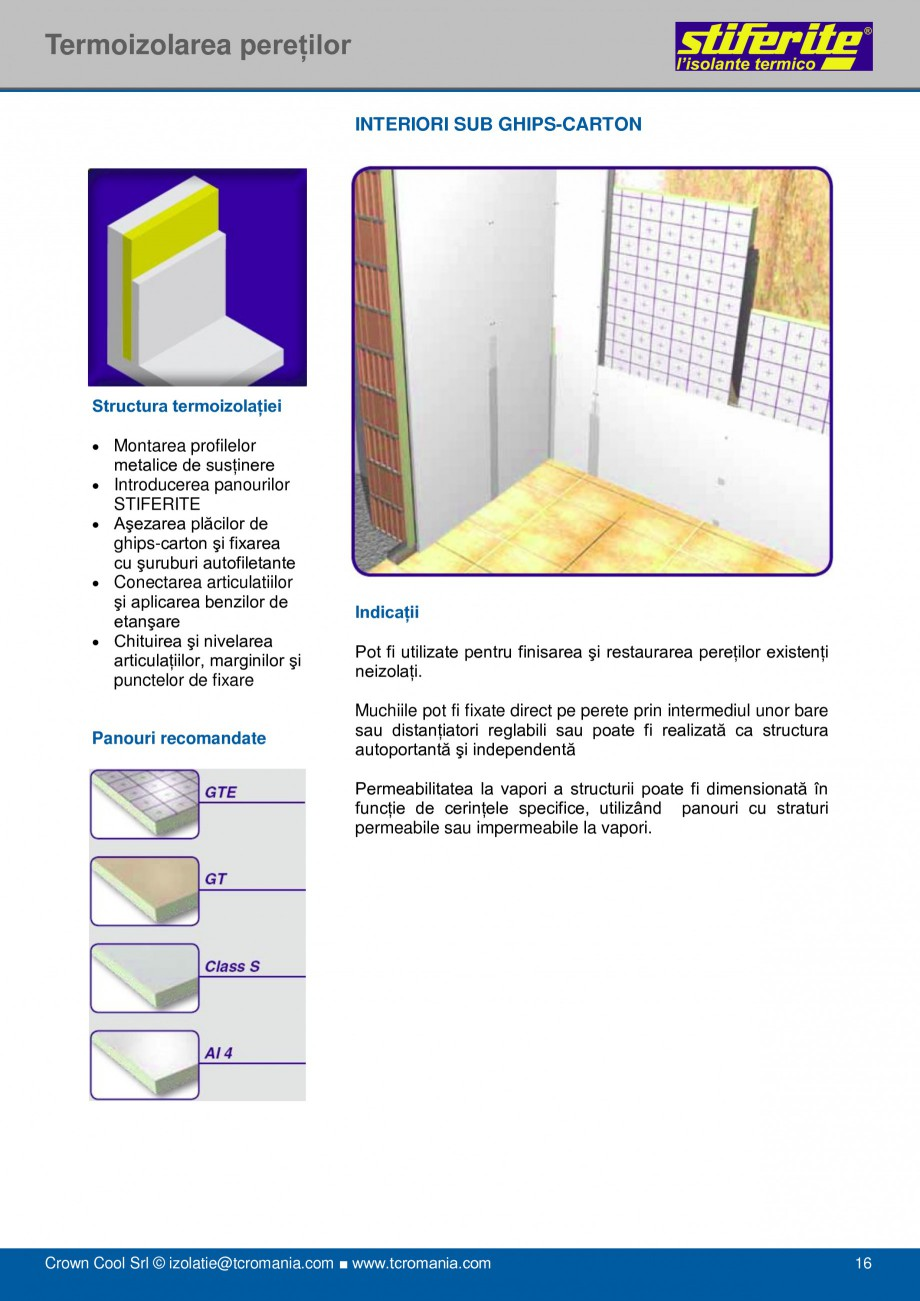 Pagina 16 - Aplicatii principale pentru panouri termoizolante din spuma rigida (PIR) Stiferite Class...