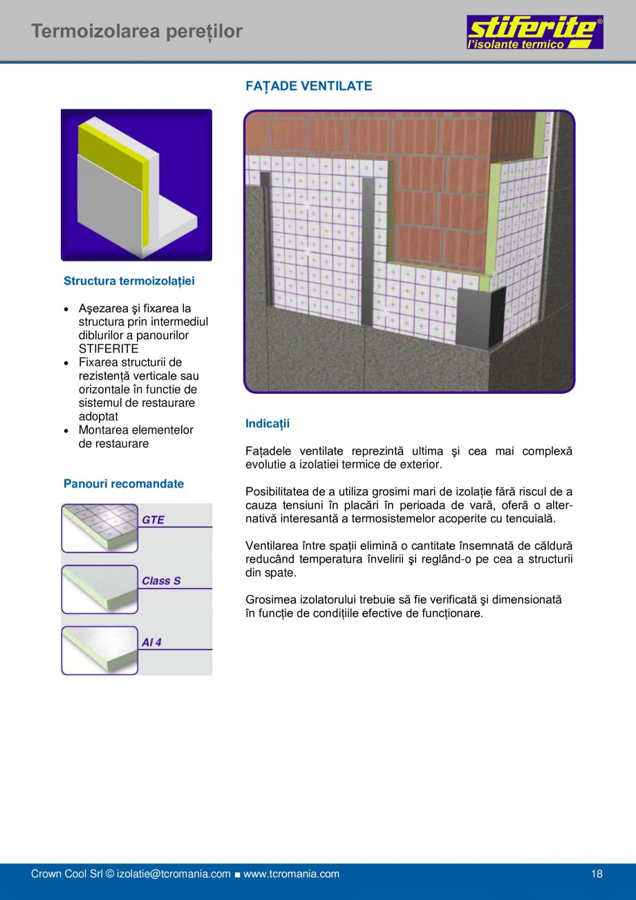 Pagina 18 - Aplicatii principale pentru panouri termoizolante din spuma rigida (PIR) Stiferite Class...