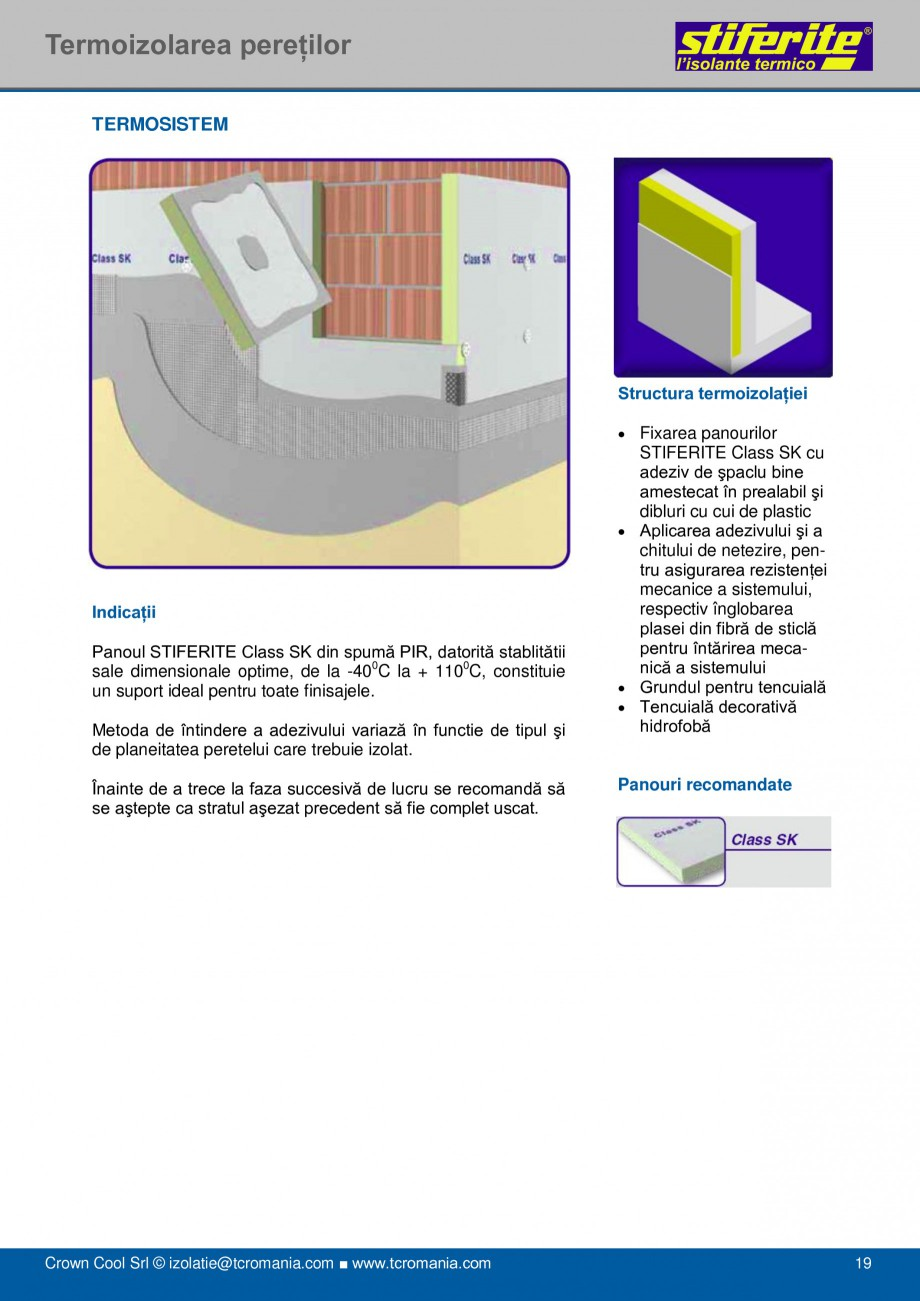 Pagina 19 - Aplicatii principale pentru panouri termoizolante din spuma rigida (PIR) Stiferite Class...