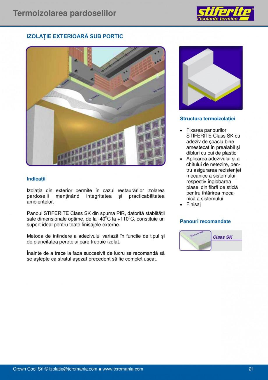 Pagina 21 - Aplicatii principale pentru panouri termoizolante din spuma rigida (PIR) Stiferite Class...