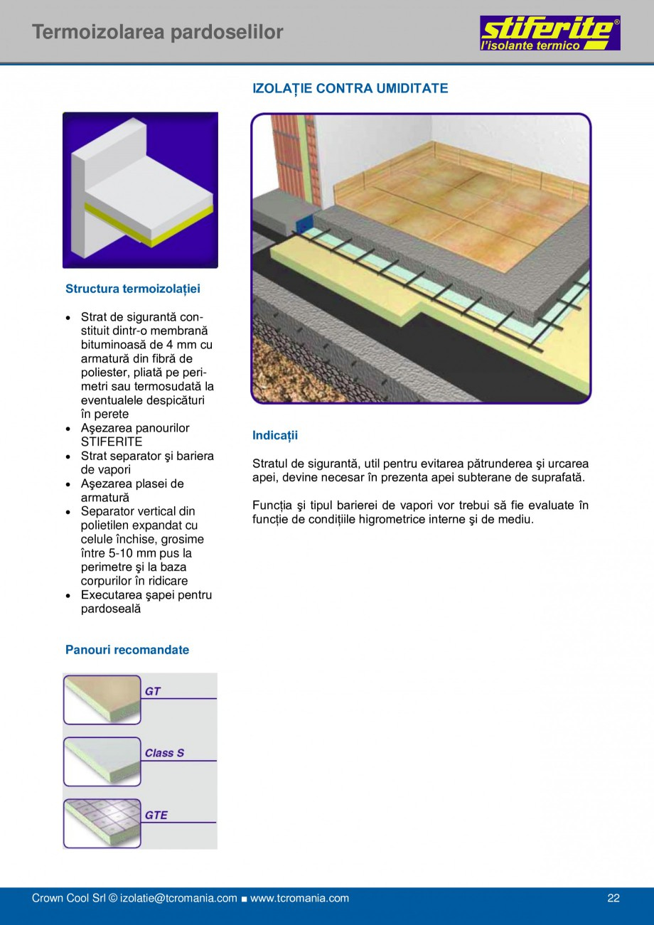Pagina 22 - Aplicatii principale pentru panouri termoizolante din spuma rigida (PIR) Stiferite Class...