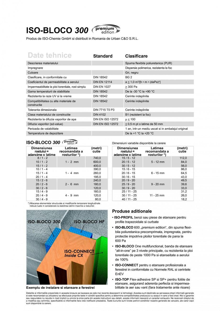 Pagina 2 - Banda de etansare poliuretanica (PUR) impregnata cu dispersie polimerica ISO Chemie...