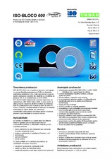 Banda de etansare impregnata cu spuma flexibila poliuretanica (PUR) cu dispersie polimerica rezistenta la foc ISO Chemie