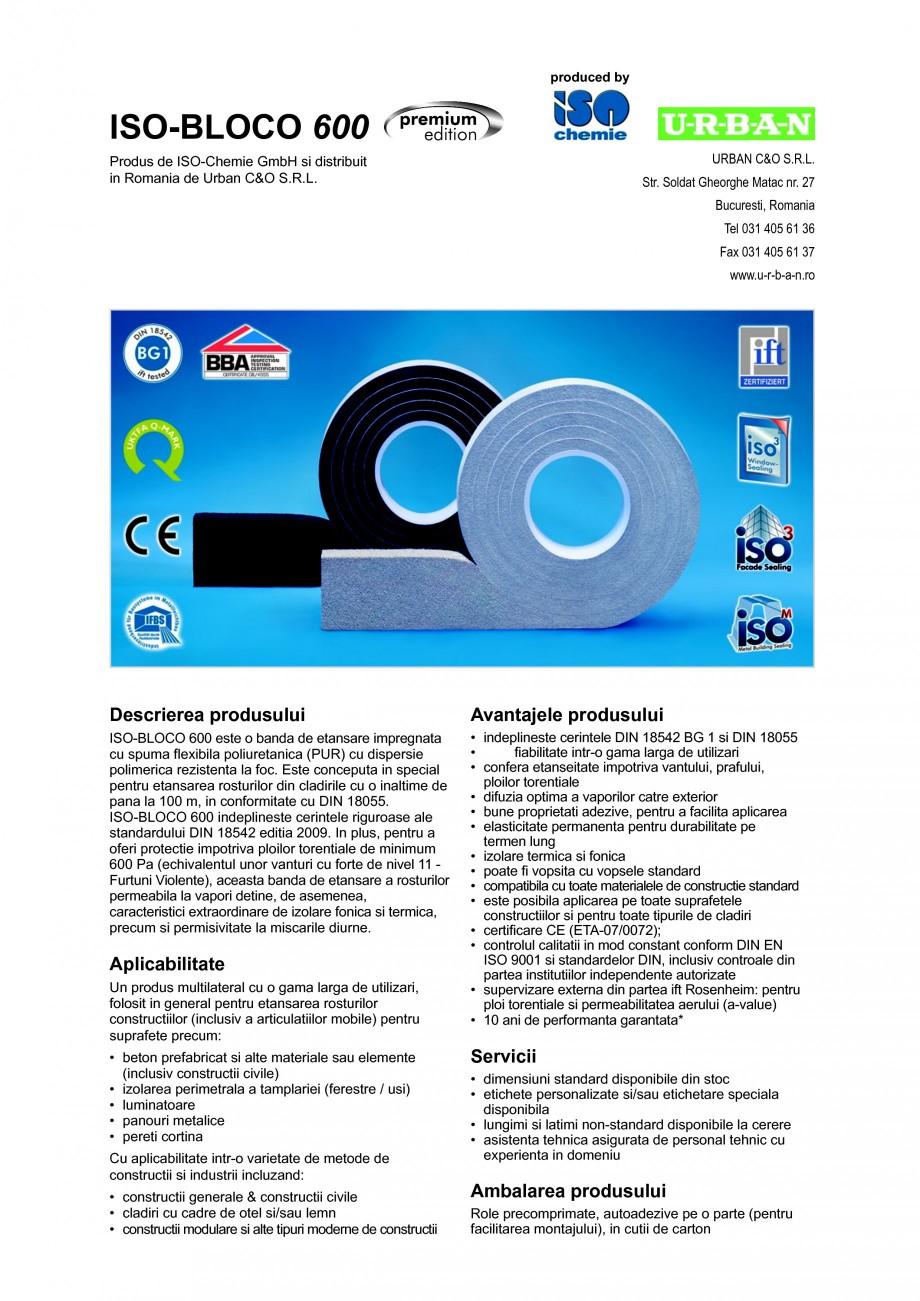 Pagina 1 - Banda de etansare impregnata cu spuma flexibila poliuretanica (PUR) cu dispersie...