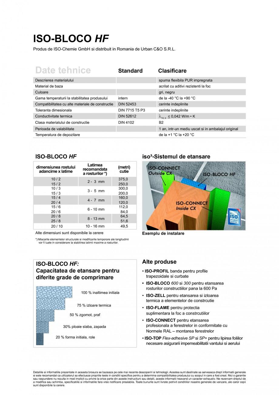Pagina 2 - Banda de etansare impregnata, in stare precomprimata ISO Chemie ISO-BLOCO HF Fisa tehnica...