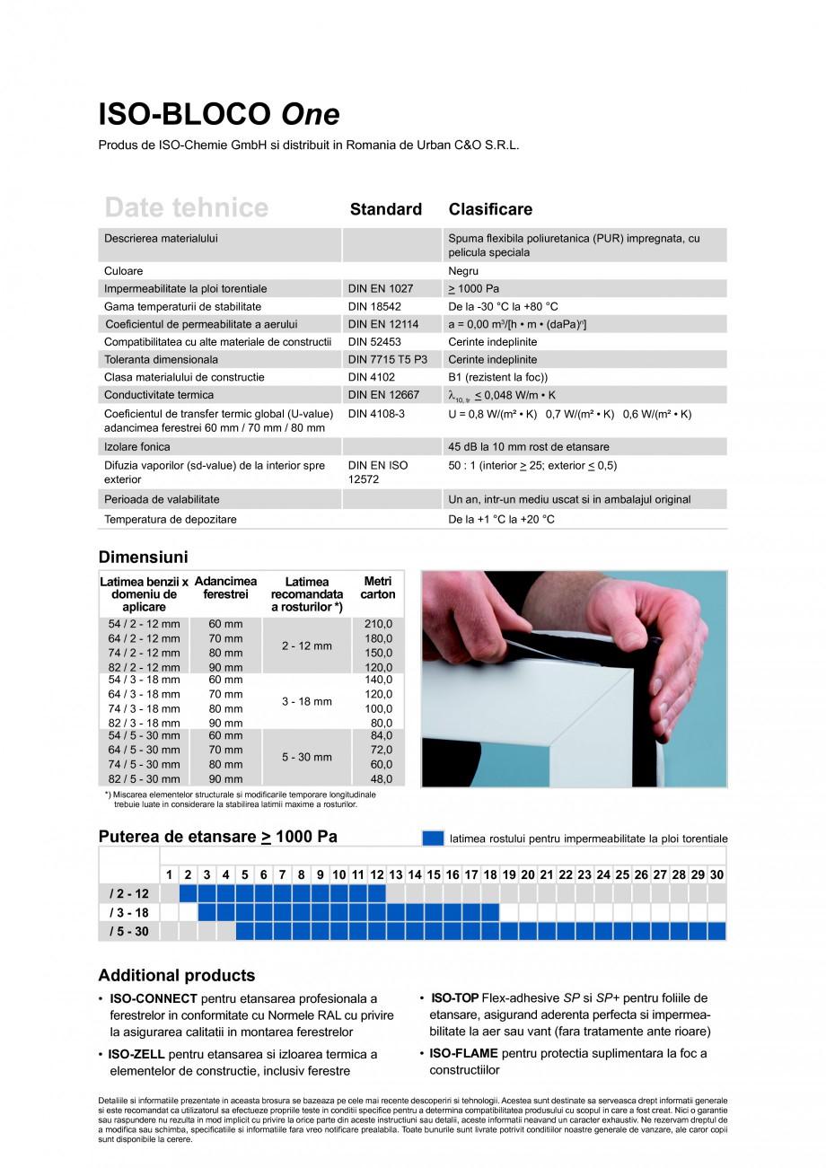 Pagina 2 - Banda multifunctionala speciala pentru etansarea rosturilor ISO Chemie ISO-BLOCO One Fisa...