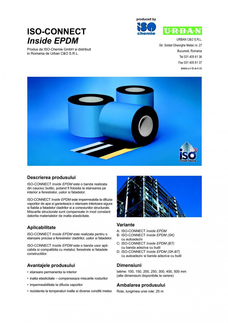 Pagina 1 - Banda de etansare din cauciuc butilic ISO Chemie ISO-CONNECT Inside EPDM Fisa tehnica...