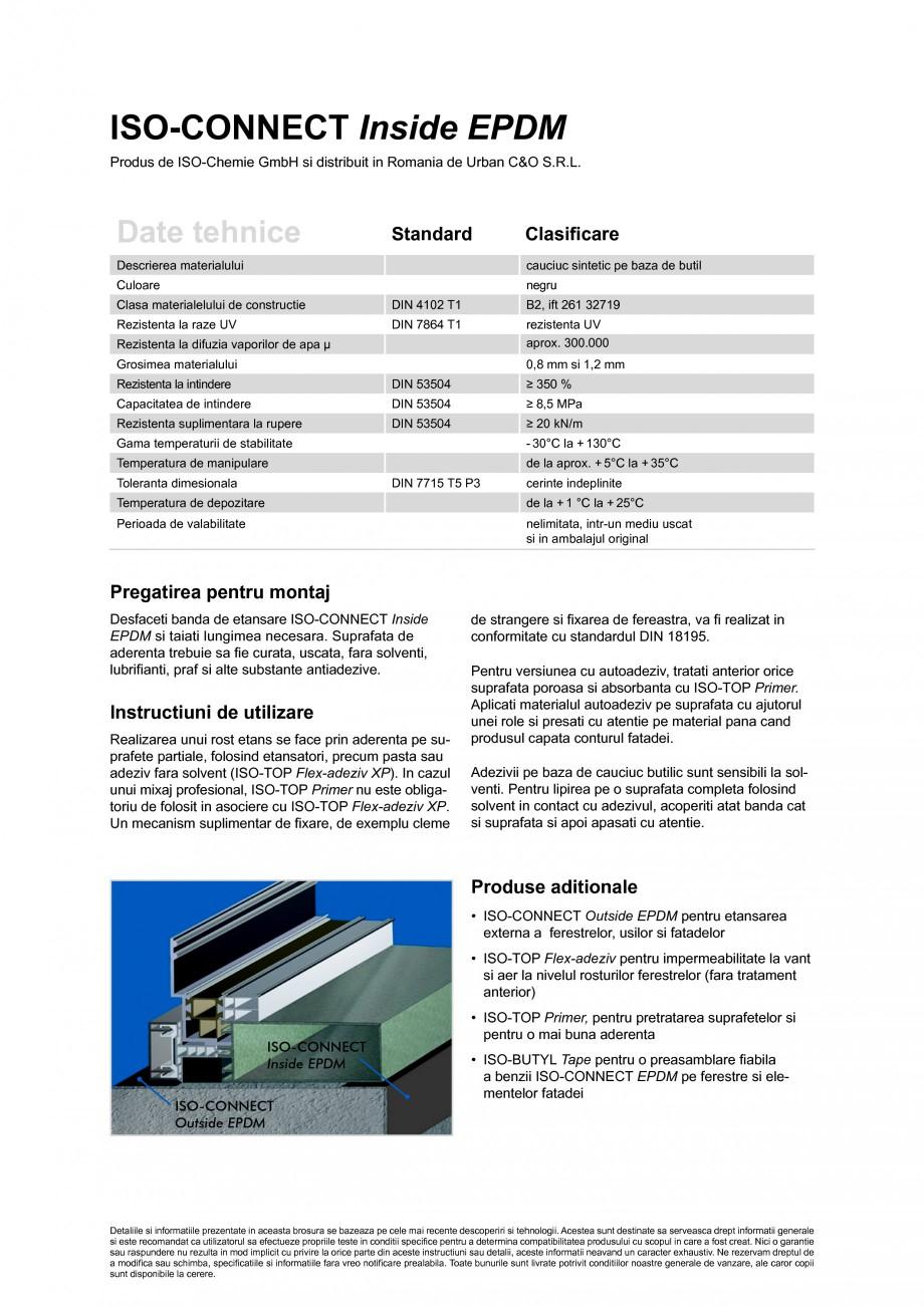 Pagina 2 - Banda de etansare din cauciuc butilic ISO Chemie ISO-CONNECT Inside EPDM Fisa tehnica...