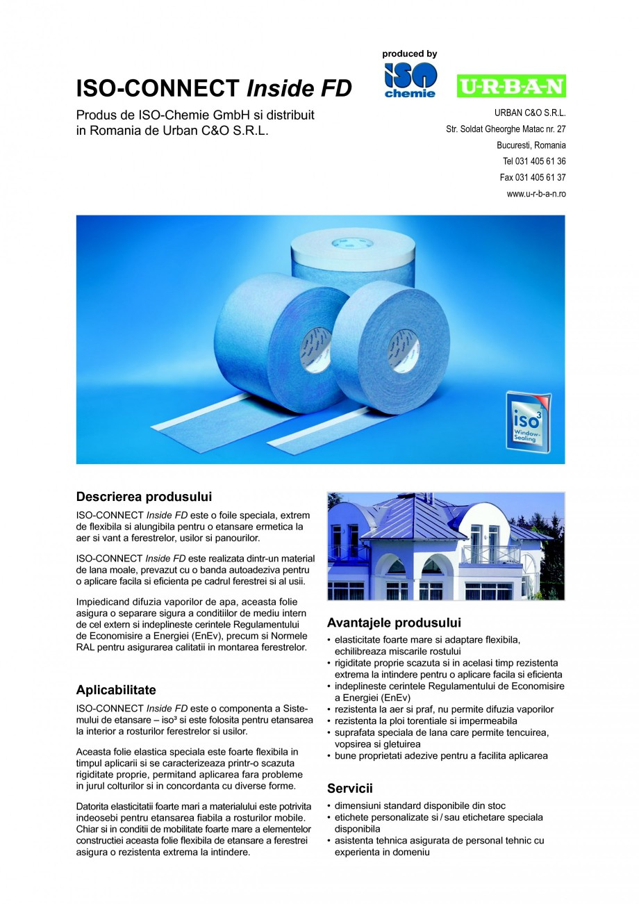 Pagina 1 - Foile speciala pentru o etansare ermetica la aer si vant a ferestrelor, usilor si...