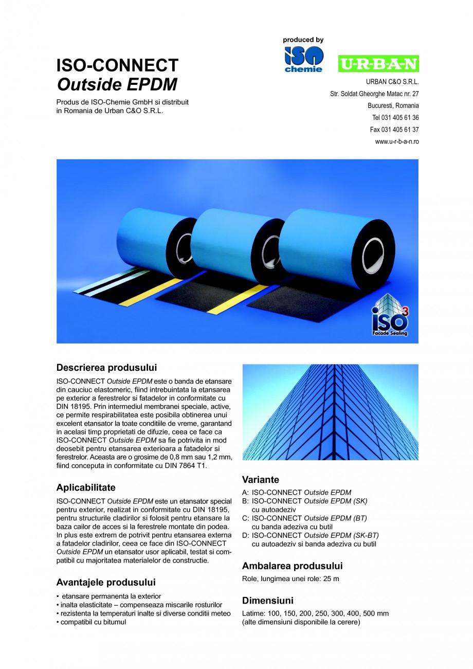 Pagina 1 - Banda de etansare din cauciuc elastomeric ISO Chemie ISO-CONNECT Outside EPDM Fisa...