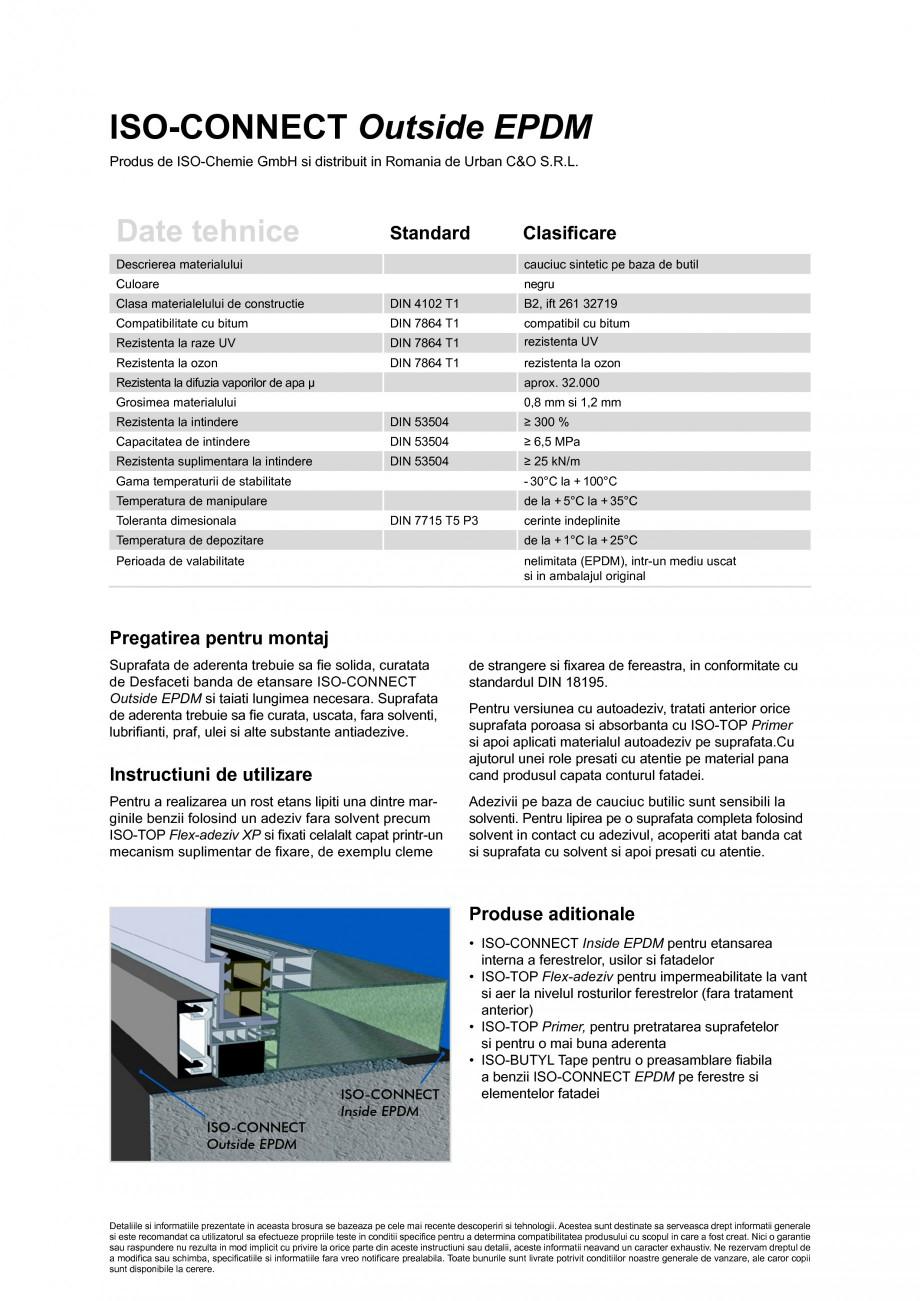 Pagina 2 - Banda de etansare din cauciuc elastomeric ISO Chemie ISO-CONNECT Outside EPDM Fisa...