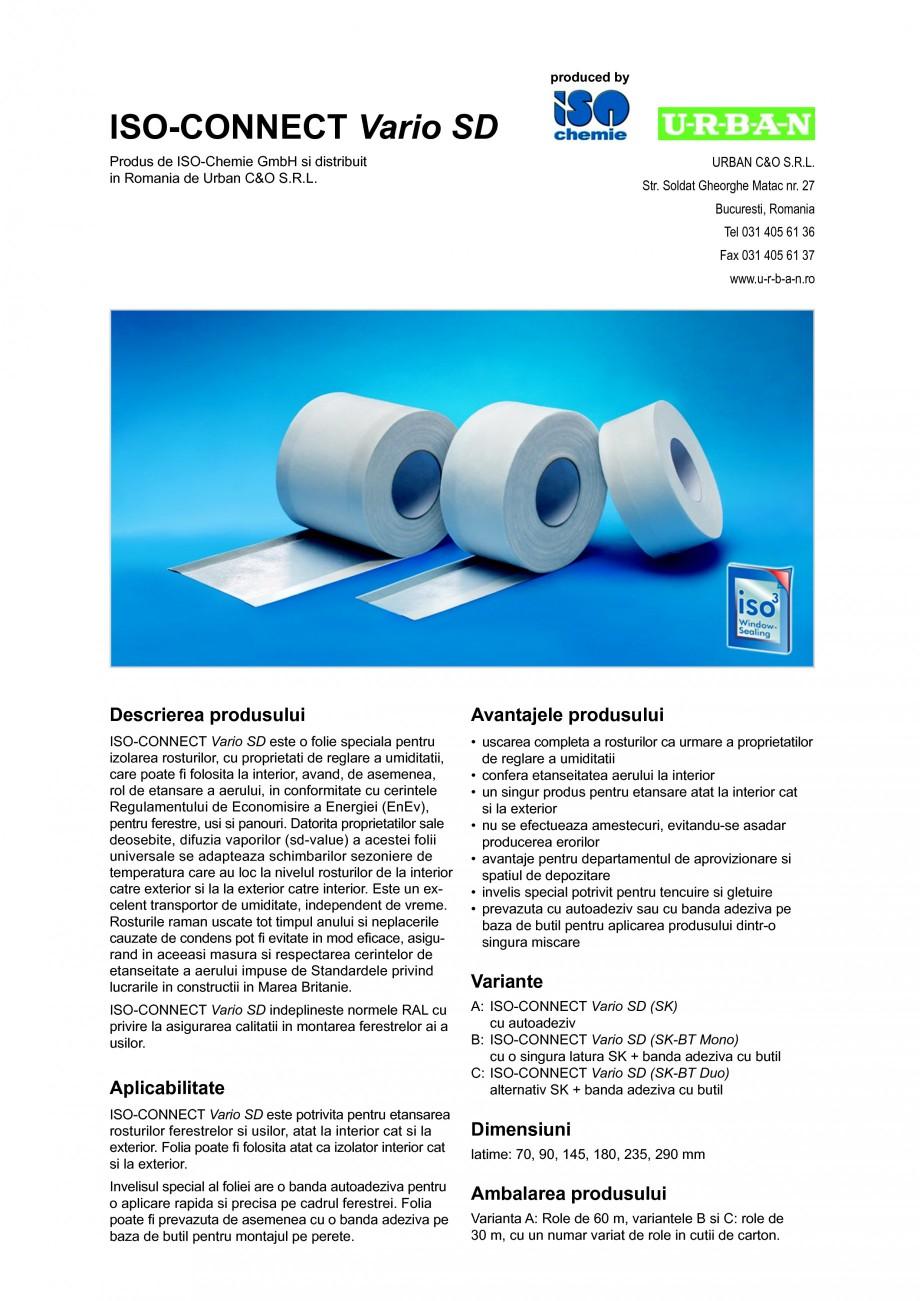 Pagina 1 - Folie speciala pentru izolarea rosturilor, cu proprietati de reglare a umiditatii ISO...