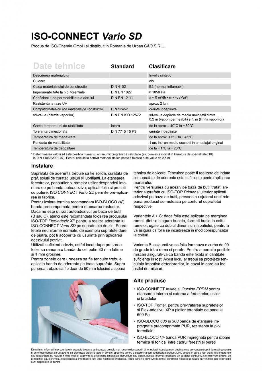 Pagina 2 - Folie speciala pentru izolarea rosturilor, cu proprietati de reglare a umiditatii ISO...