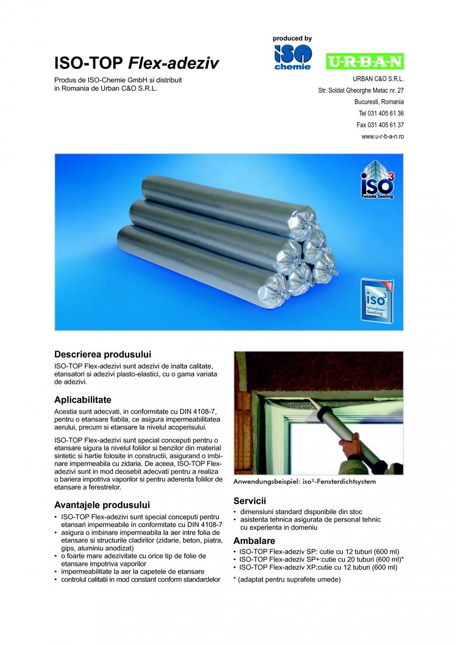 Pagina 1 - Adezivi de inalta calitate, etansatori si adezivi plasto-elastici ISO Chemie ISO-TOP...