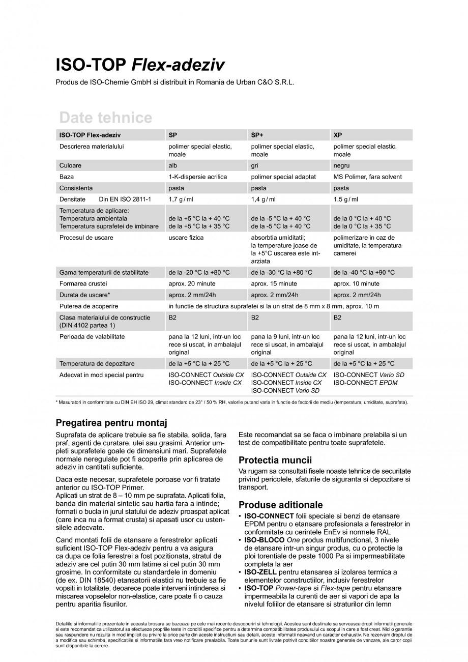 Pagina 2 - Adezivi de inalta calitate, etansatori si adezivi plasto-elastici ISO Chemie ISO-TOP...