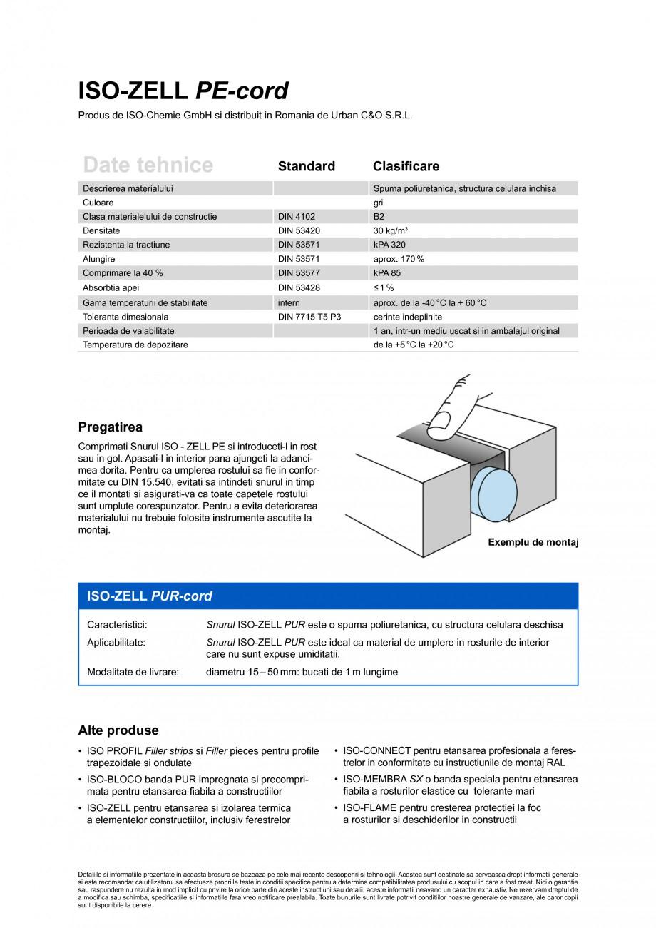 Pagina 2 - Material de etansare rotund pentru umplerea rosturilor de dilatatie ISO Chemie ISO-ZELL...