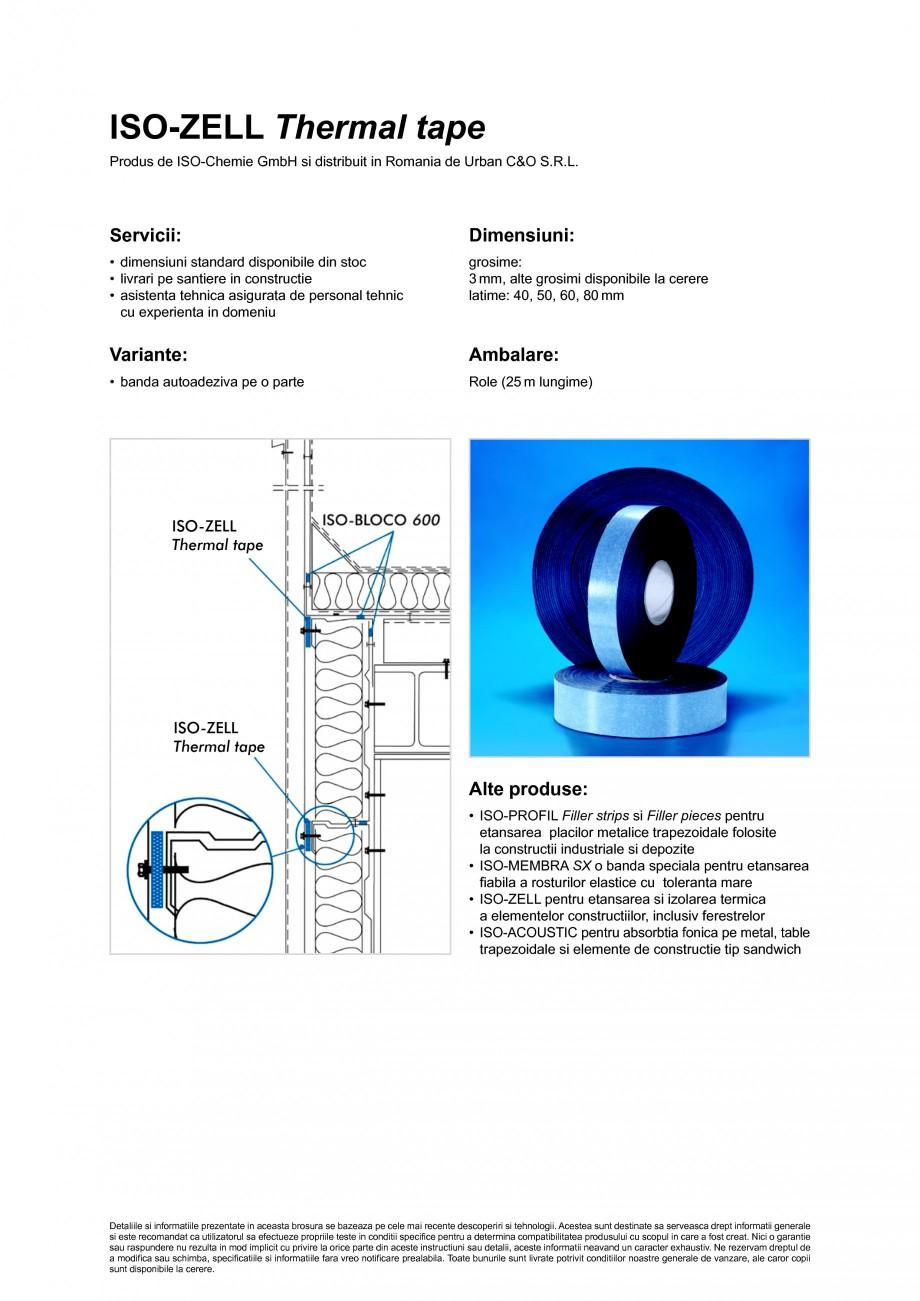 Pagina 2 - Banda din spuma PE sau PP, autoadeziva pe o parte ISO Chemie ISO-ZELL Thermal tape Fisa...