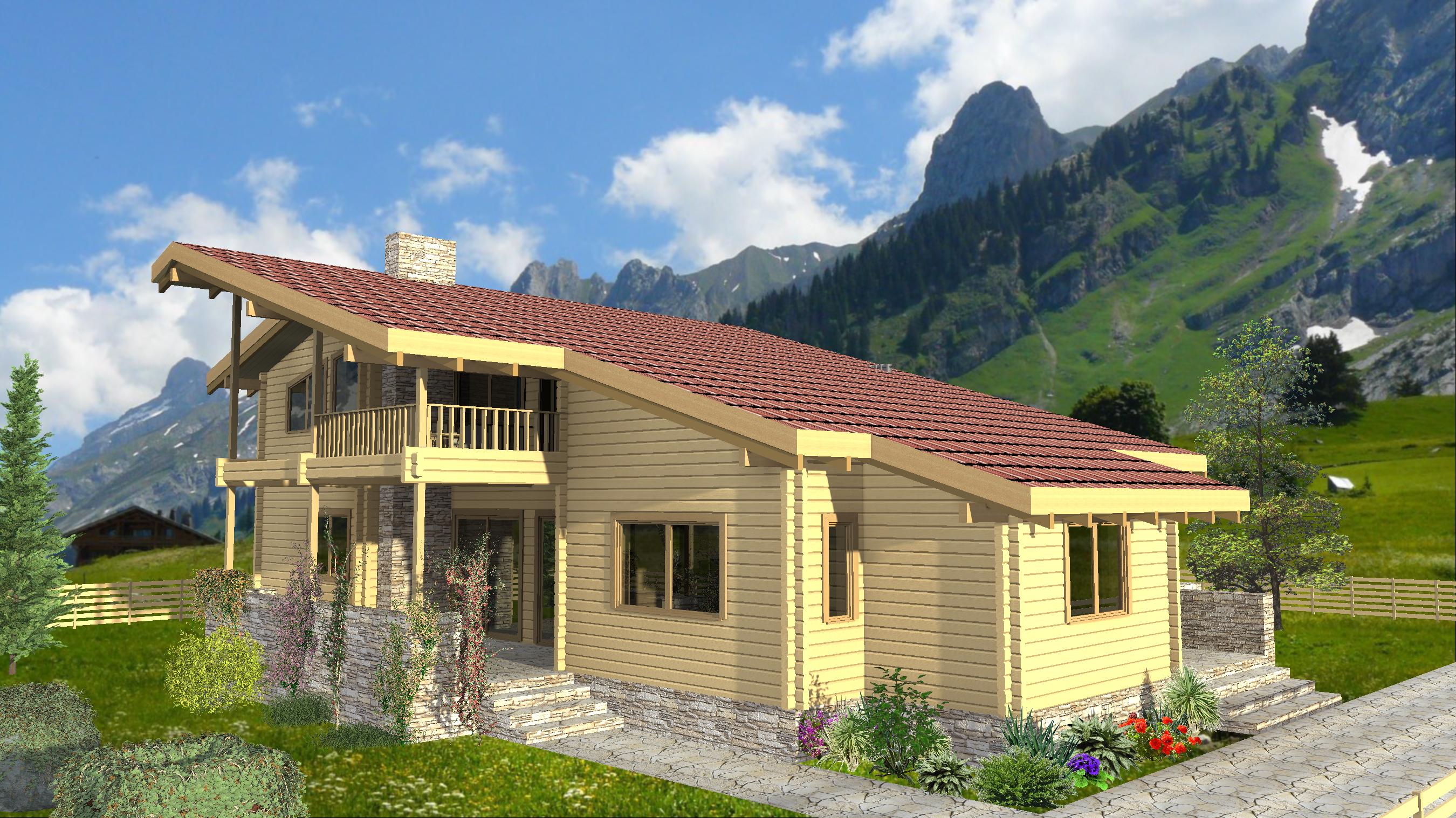 Lucrari de referinta casa din lemn belvedere euro for Foto case americane