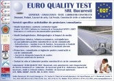 Servicii specifice activitatilor de proiectare/consultan ta  EURO QUALITY TEST