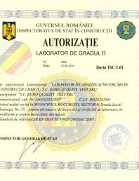 Autorizatie Laborator de gradul II