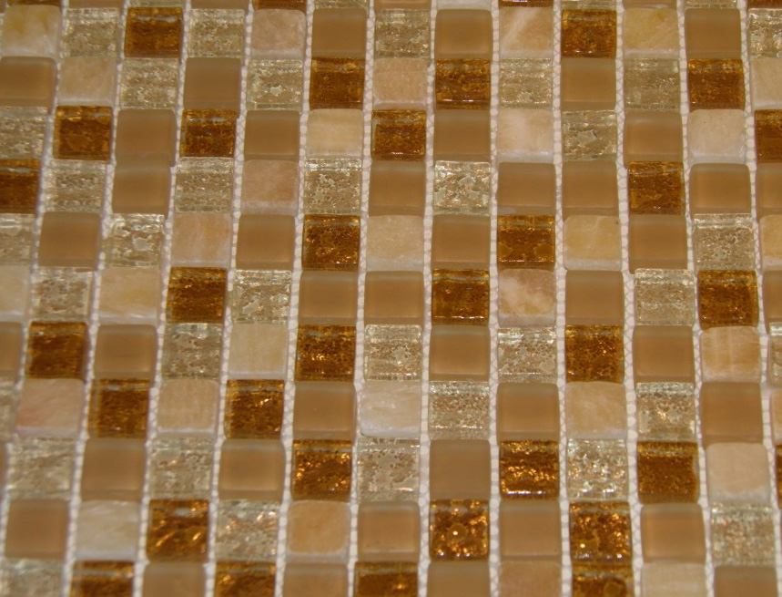 Mozaic sticlă cristal și piatră TM0055 Top mosaic - Poza 6