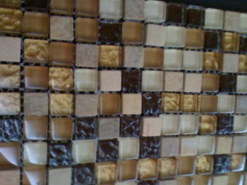 Mozaic sticlă cristal și piatră TM0274 Top mosaic - Poza 7