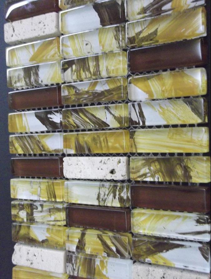Mozaic sticlă forme speciale și piatră TM0264 Top mosaic - Poza 35