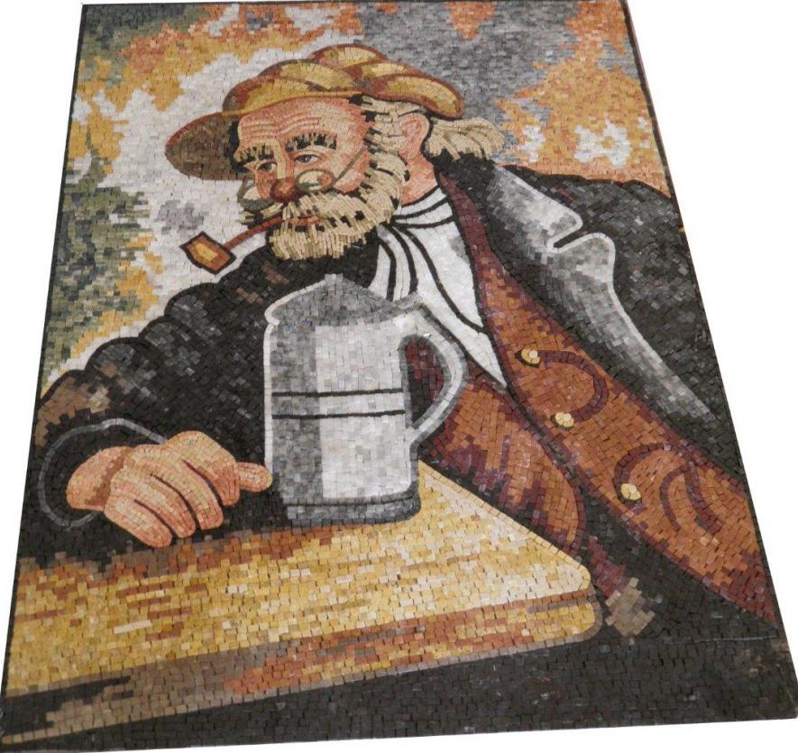 Mozaic din piatra - model artistic TMA0001 Top mosaic - Poza 1