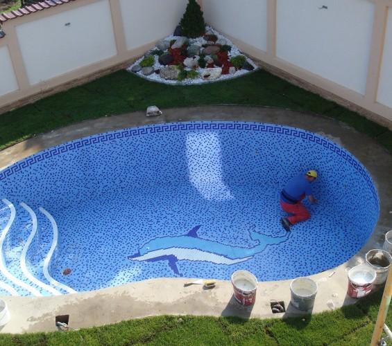Mozaic piscina 3 Top mosaic - Poza 5
