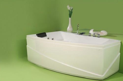 Greta - cada de baie pe colt din acril antibacterian ll FIBREX - Poza 1