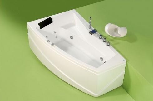 Greta - cada de baie pe colt din acril antibacterian FIBREX - Poza 2