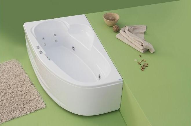 Lotus - cada de baie pe colt din acril antibacterian ll FIBREX - Poza 3