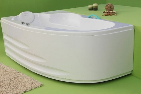 Lotus - cada de baie pe colt din acril antibacterian FIBREX - Poza 4