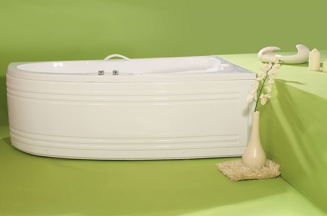 Nicole - cada de baie pe colt din acril antibacterian ll FIBREX - Poza 7