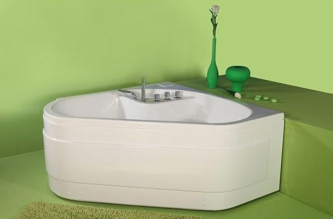 Ingrid - cada de baie pe colt din acril antibacterian ll FIBREX - Poza 25