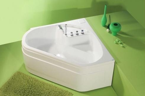 Ingrid - cada de baie pe colt din acril antibacterian FIBREX - Poza 26