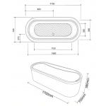 Athena cada de baie ovala - schita FIBREX - Poza 10