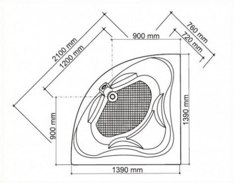 Venus cada de baie pe colt - schita FIBREX - Poza 28
